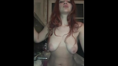 Teen Smoking Cigarette Naked