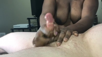 Black MILF Milks White Cock