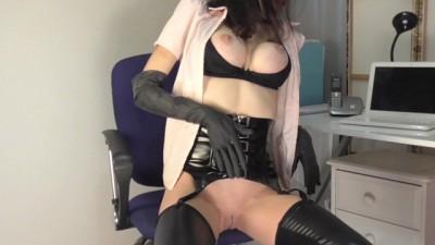 Voyeur Boss Secretly Films Hot Office Girl Masturbate