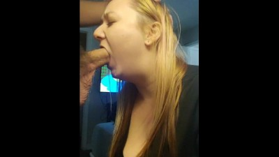 Deepthroats and Gets Cum down Throat