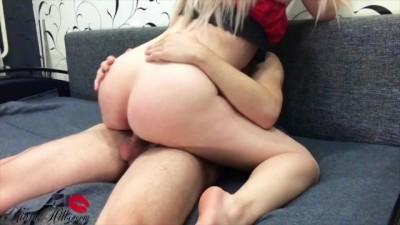 Sexy Bunny Sensual Blowjob and Hard Riding Big Dick Husband