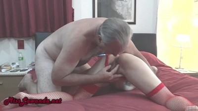 Petite Asian gives her Pussy to old Fat Guy