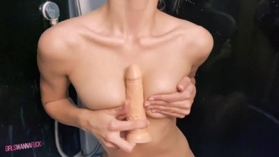 Beautiful Bitch in Shower Masturbating