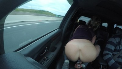 MILF SHORT SKIRT & KNEE HIGHS NUDE IN PUBLIC FUCKS DILDO TRUCKER WATCHES