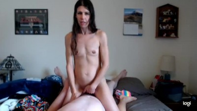MILF Rides my Cock on Webcam like a Good Cowgirl