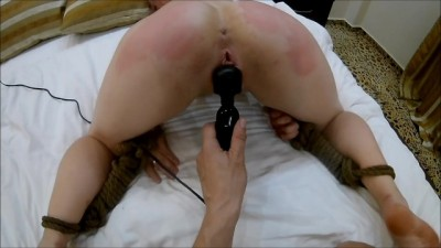 Hard Spanking with Magic Wand Vibrator