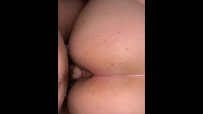 He Pisses inside me then Cums all over my Fat Ass