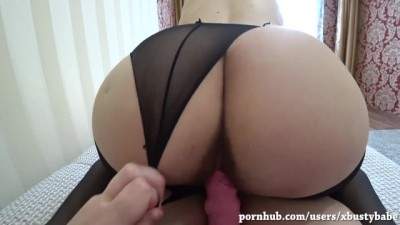 MILF Fucks Pregnant Girlfriend with a Strap-on