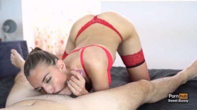 Best Blowjob ever from Beautiful GF in Red Lingerie