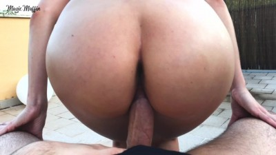 Cowgirl fuck and blowjob with cumshot in my tight pussy