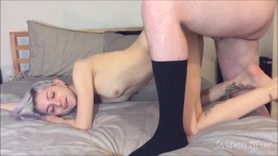 Teen Slut Fucked By Older Man in Socks