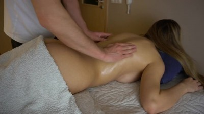 Adorable babe gets sensual massage
