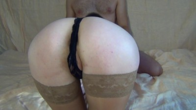 Stockings handjob stepbrother and sat on his big dick