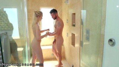 Chloe Teases Him in the Showers First!