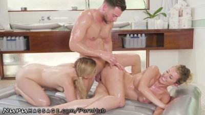 Stepmom Helps Daughter Land Masseuse Job- 3Some