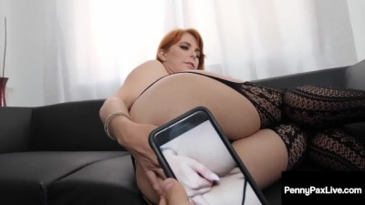 Ginger Penny Pax Gets 2 Phat Loads Of Cum After Double Team