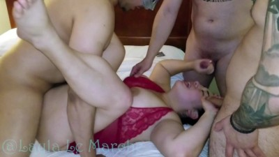 Wife In Gangbang While Blindfolded