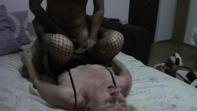 milf in fishnet stockings gets fucked until she begs