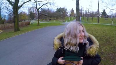 Public blowjob in the park by Eva