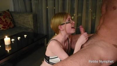 Petite Slut Teen Gives A Romantic Sloppy Blowjob