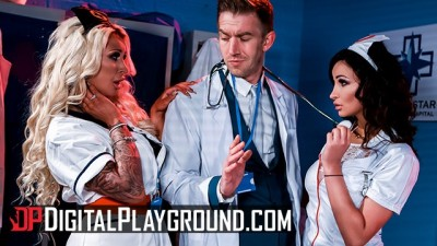 Lesbian nurses Alyssia Kent, Brooklyn Blue Doesn't Like Men
