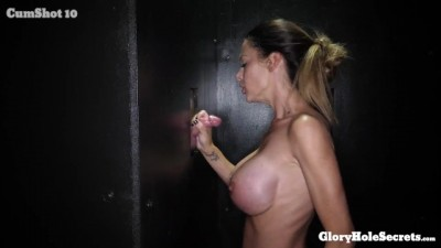 Huge titted milf sucks strangers cocks