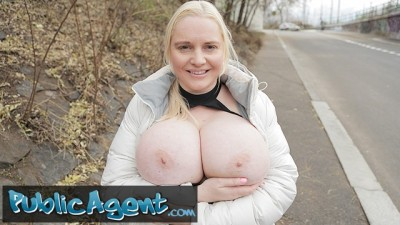 Nblonde Jordan Pryce's Massive Tits doing titjob with stranger men