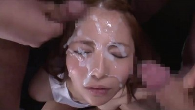 Japanese Bukakke - Cum in Face