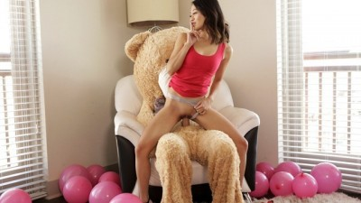 Fucking The Big Valentine Teddy Bear With StepBro Inside