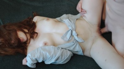 Sex with Russian red-haired beauty petite 4K