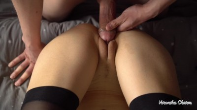 Big Dick Rubbing Pussy And Huge Cum On Her