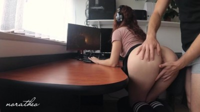 Big Ass Fucked while Playing a Video Game