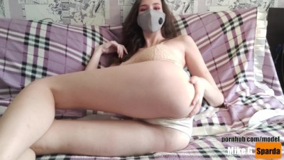 Teen GF Moans with Pleasure Masturbating her Pussy for Orgasm