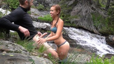 Young Gets Naughty by a Waterfall