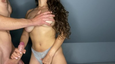 Handjob that Ends with a Massive Cumshot
