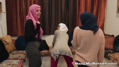 Arab Babes Defy their Religion to Share a Big Dick
