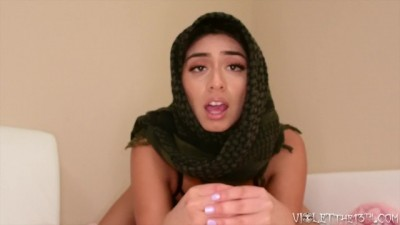 Violet's Arab Hijab Jerk-Off Instruction