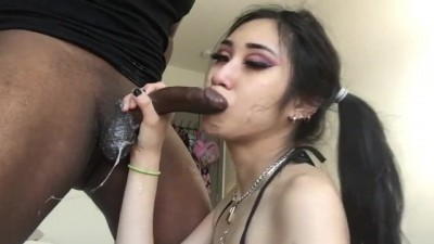 Asian Deepthroat and Facefuck