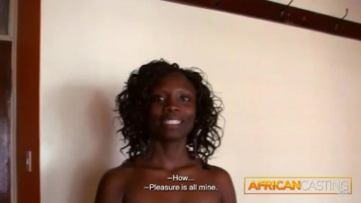 White Man Bangs Gorgeous Ebony Babe