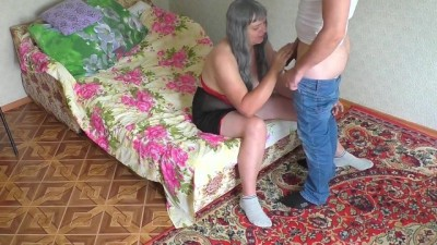 Mature Mom Loves Anal Sex with her Stepson.