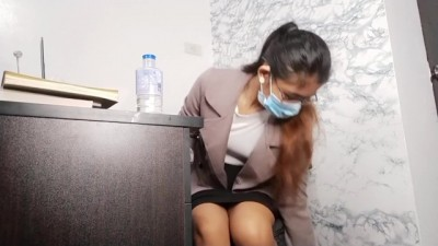 Put a Spy Camera at my Teacher's Desk and Caught her getting Naughty right on Cam!