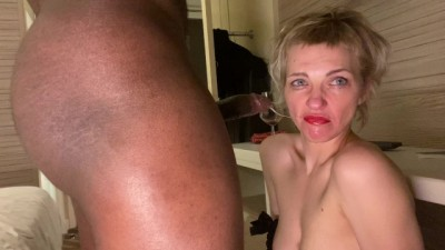 Rough Interracial Throat Fucking