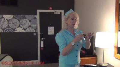 Stewardess Christie Cougar Fucks Passenger