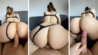 Curvy Young Riding Hard and Doggystyle