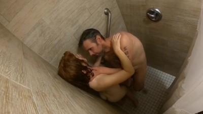 Public Shower Sex with People outside