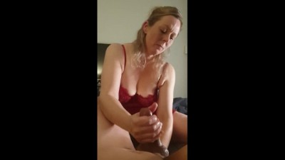 Prostate Massager Toy Earns her a Huge Load of Hot Cum